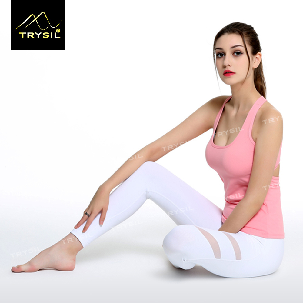Sexy Yoga Legging with Mesh Gym Ankle Pants for Ladies