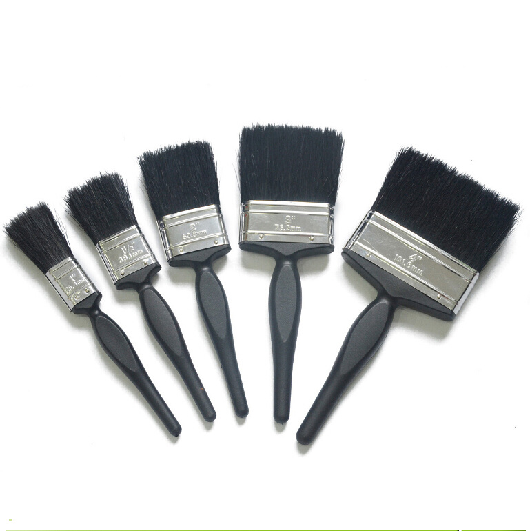 Professional Black Bristle Blend Double Colour of Plastic Handle Flat Brush (GMPB018)