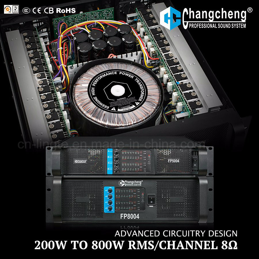 Fp8004 4 Channel Series, Class H Professional Power Amplifier