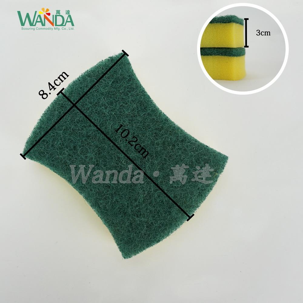 Wholesale Waist Shape High Density Cleaning Sponge Scourer for Kitchen