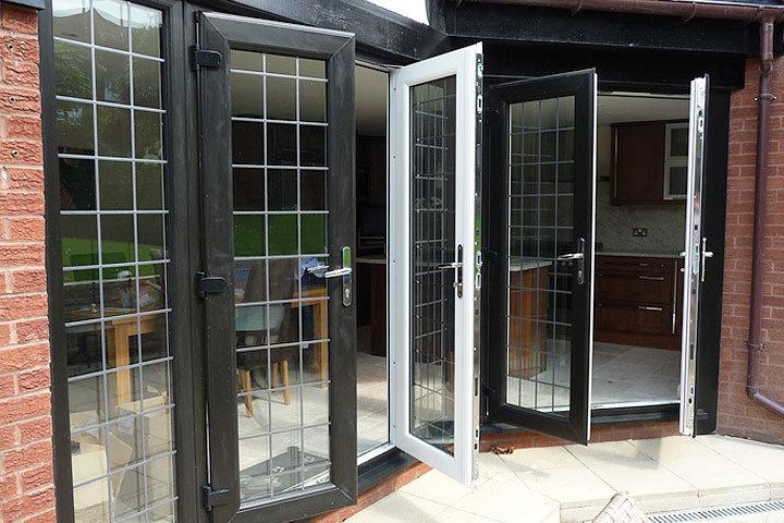 Powder Coating Soundproof French Doors, 2 Panel Casement Door