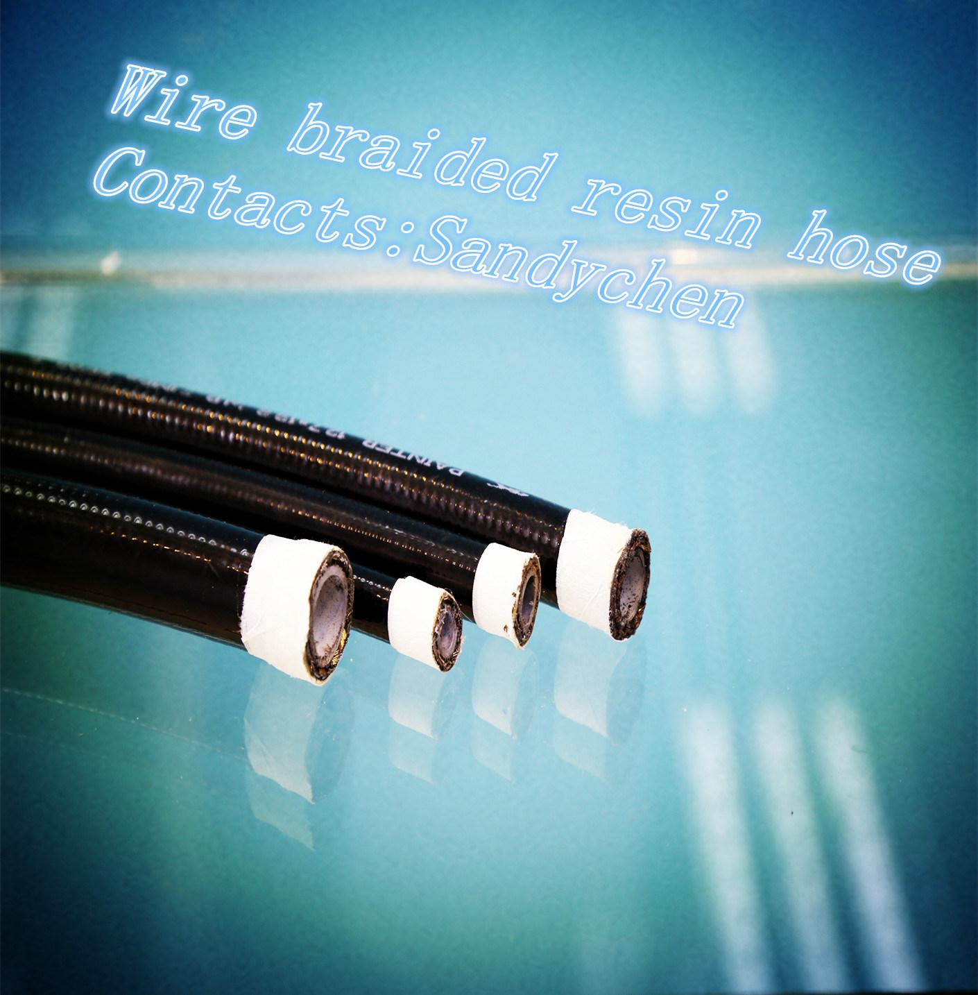 SAE100r7 One Lyaer Wire Braided Resin Hose