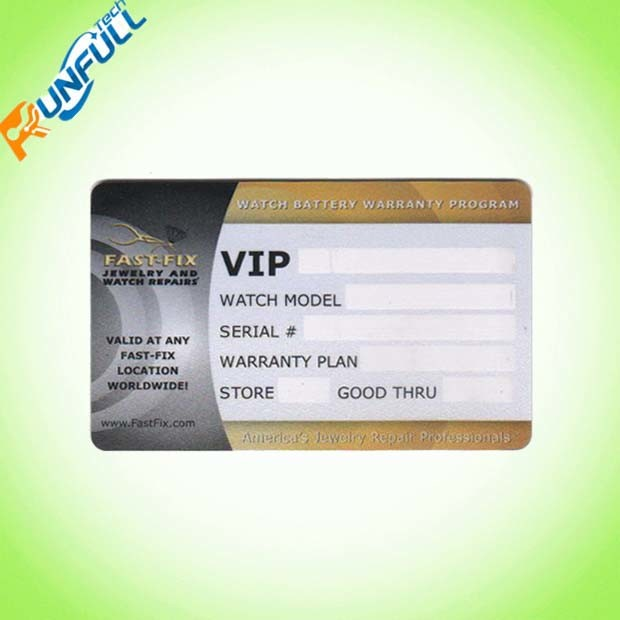 Plastic Signature Panel Gift Card Made of PVC Material