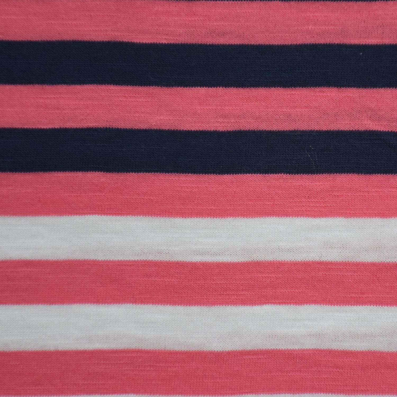 100%Cotton Yarn Dyed Stripe Slub Jersey