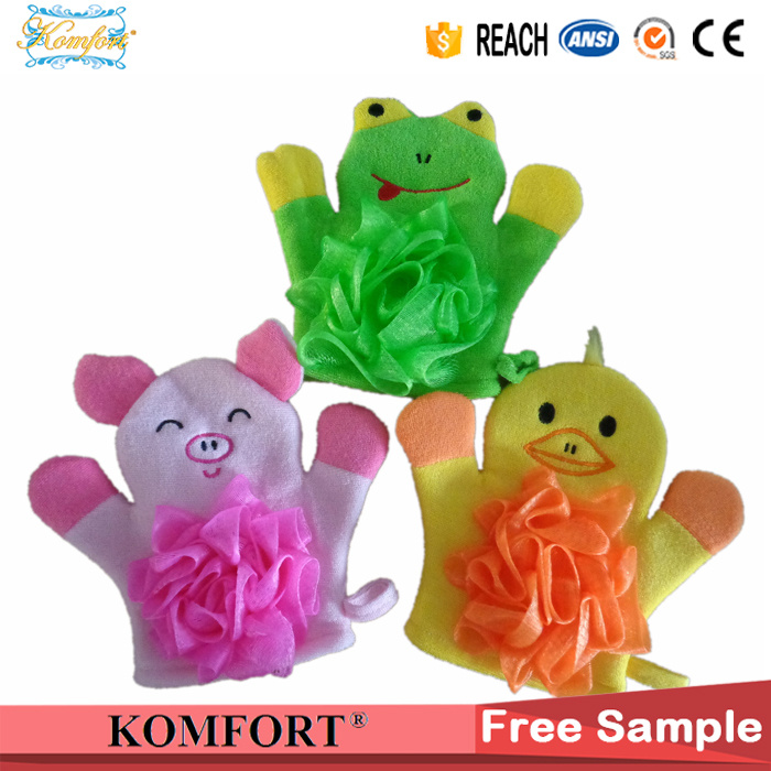 Pig Animial Finger Hand Puppet Kids Baby Bath Cleaning Glove
