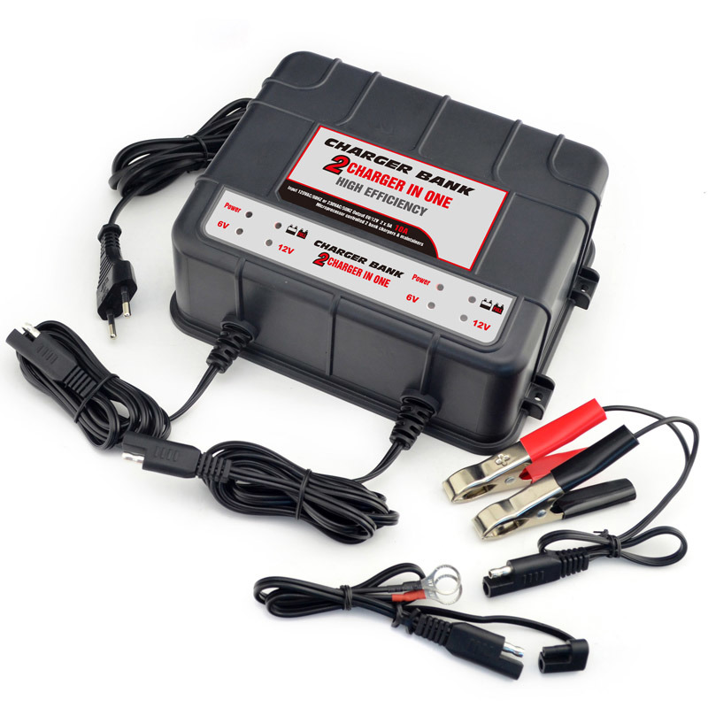 6/12 Volt 5 AMP Battery Charger - 2 Banks