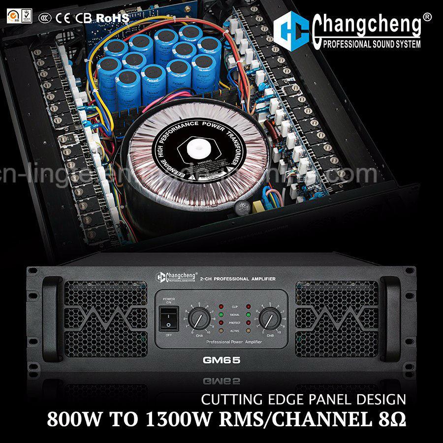 GM Series Unique Panel Class H Design Professional Power Amplifier