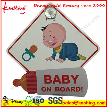 OEM Factory Baby on Board Car Sign Sticker with Suction Cup