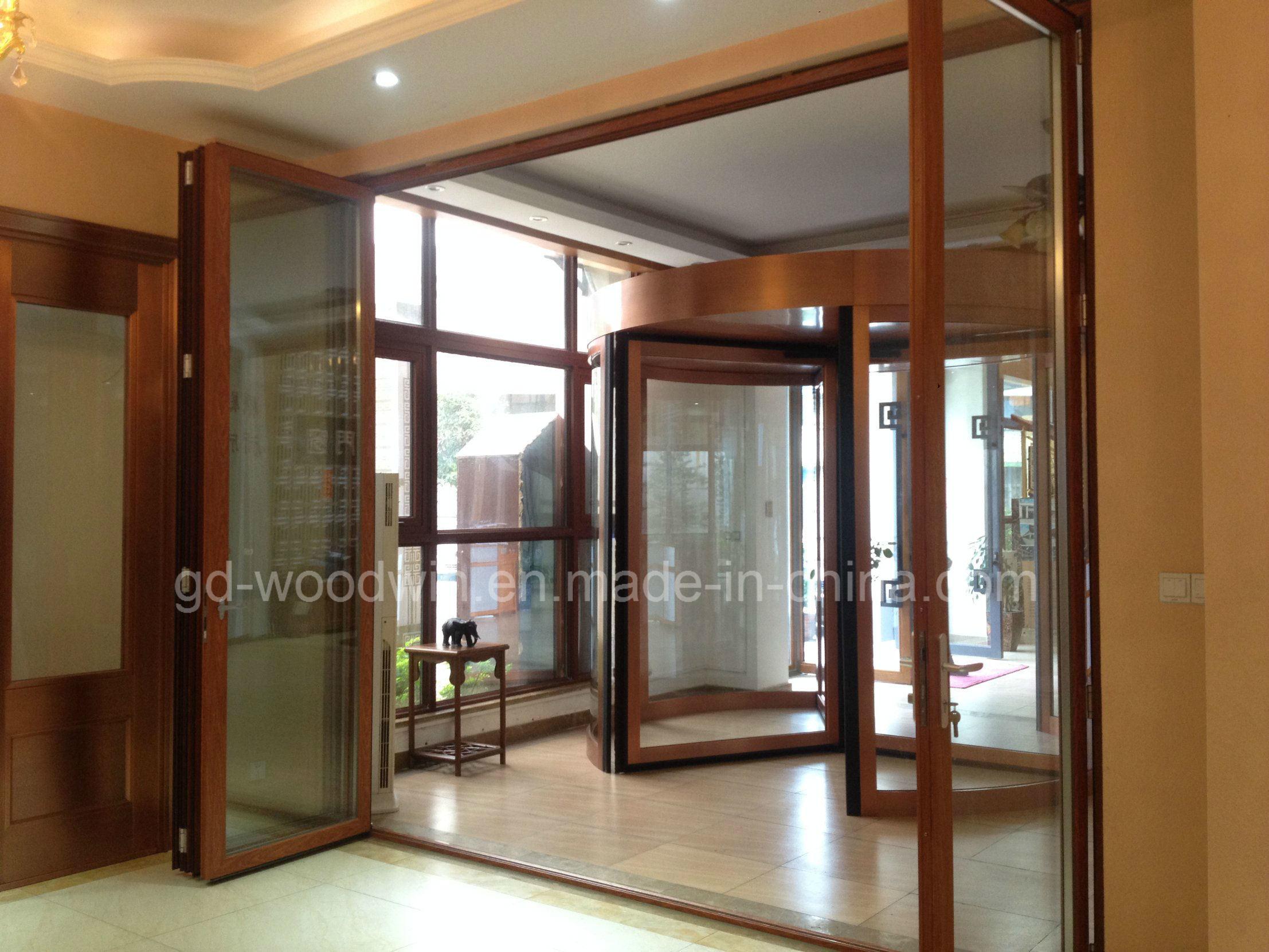 China Customized Made Double Glazed Lowe Glass Balcony Folding Door ...