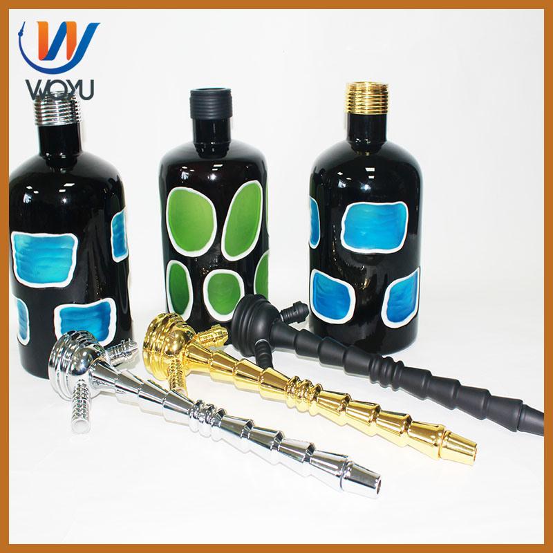 High Quality Screw Stem Mouth Design Artificial Hookah Bottle