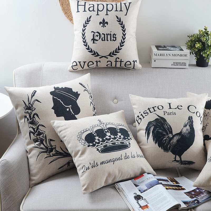 18 Inch Square PE Foam Simple Throw Pillows Bed