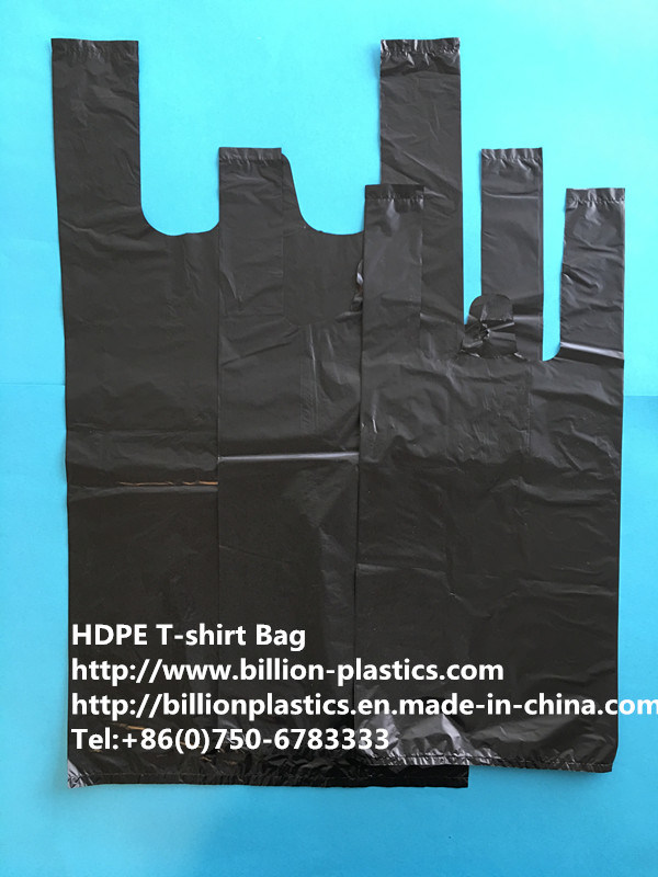 Durable Black Garbage Bag Trash Bag Rubbish Bag Trash Can Liner Garbage Bag Rubbish Bag T-Shirt Bag Carrier Bag Shopping Bag Polybag Gusset Bag