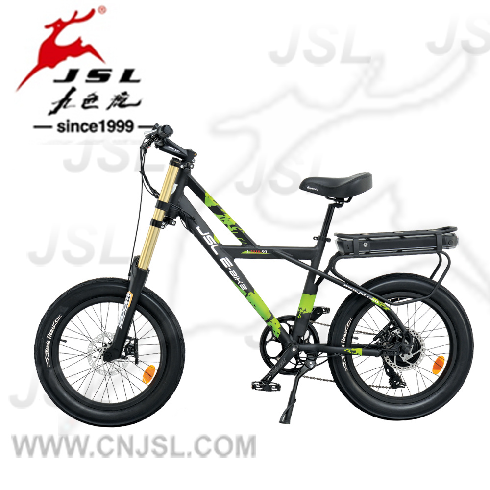 "20"" Aluminum Alloy 350W Brushless Motor Wide Tyre Electric Bike"