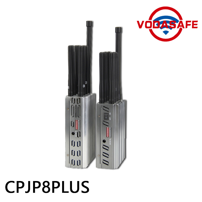 2016 New 8 Antennas High Power Handheld 3G/ 315/ 433/ Lojack Jammer, Built-in Battery, Portable 2g 4G Lte GSM CDMA Cell Phone Signal Blocker