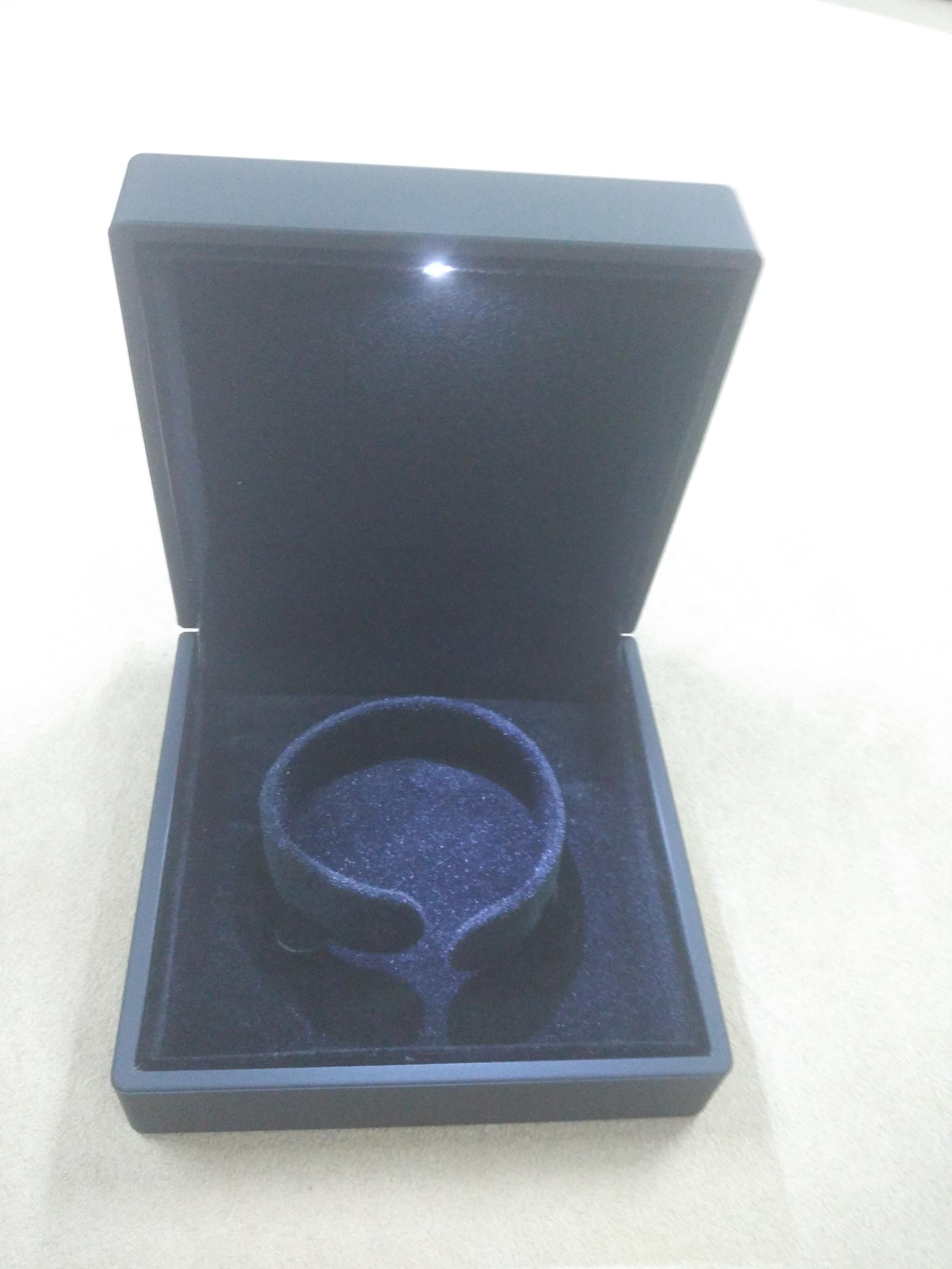Black Rubber Paint Jewelry Plastic Box