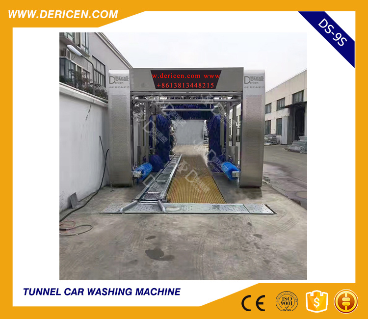 Dericen Ds9s Automatic Tunnel Car Wash Machine Prices with Stainless Steel