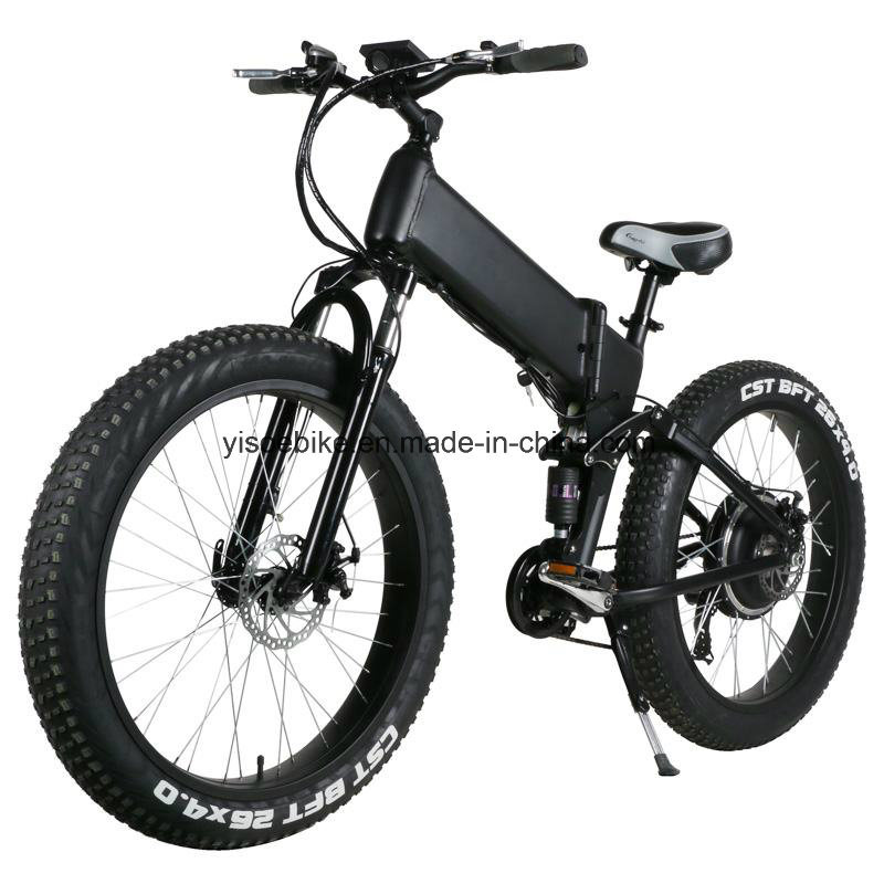 Mountain Full Suspension Electric Bicycle with 4.0 Tire