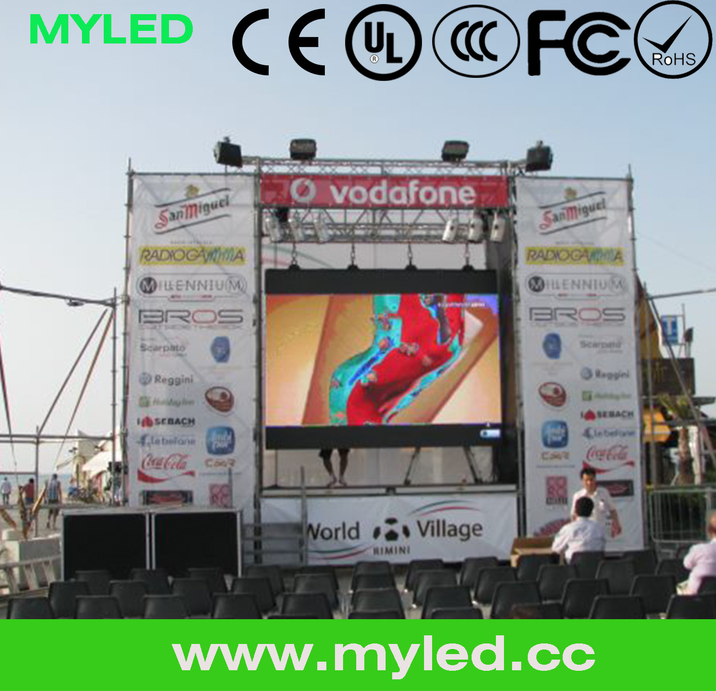 P8 P7.62 P6 SMD LED Display Indoor/ P4 P5 P6p6.67 LED Display Modules/ Video Outdoor SMD LED Billboard P6 P8 P10