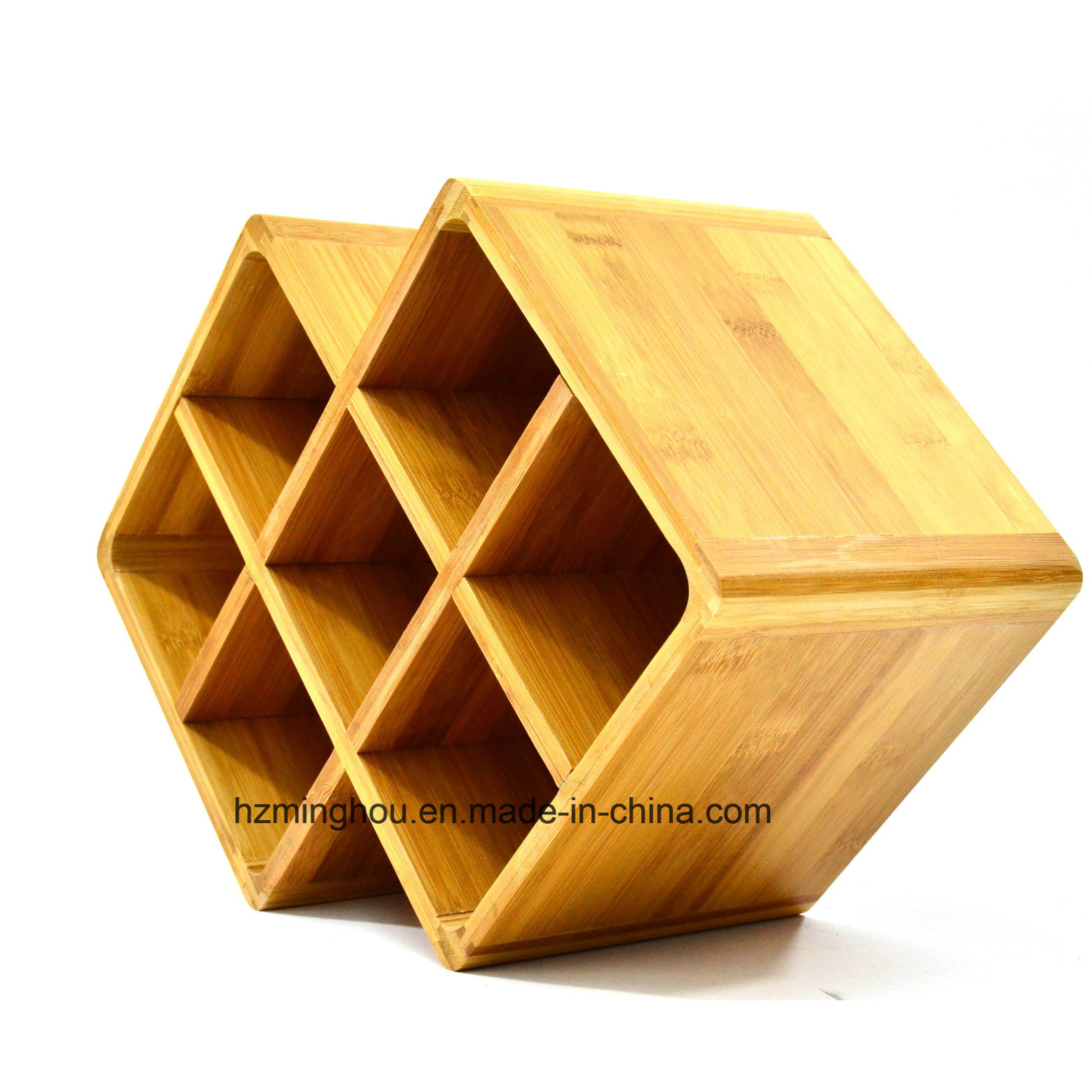 Widsom Bamboo Wine Rack 8 Bottles for Home Storage Shelf
