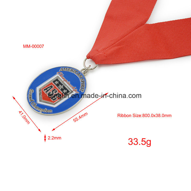 Custom Die Casting Sliver Plated Memorial Medallion