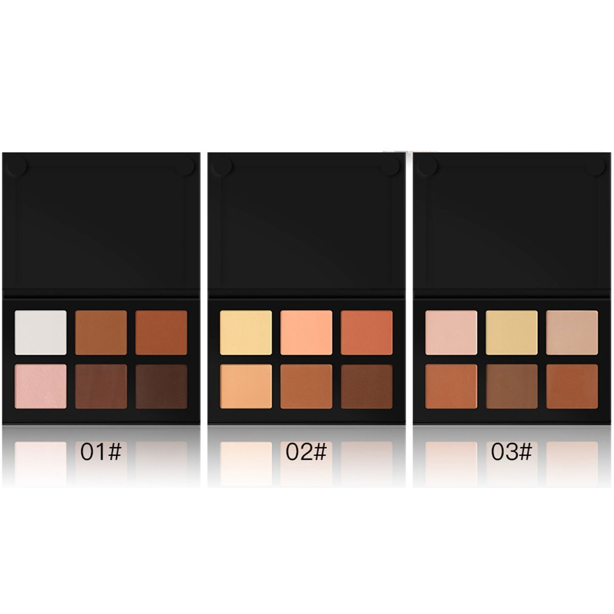 High Quality 6 Colors Flawless Press Powder Foundation Palette Highlight Cosmetic Powder