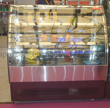 New Design Cake Showcase with Stainless Steel Base 2 Shelf for Cake display