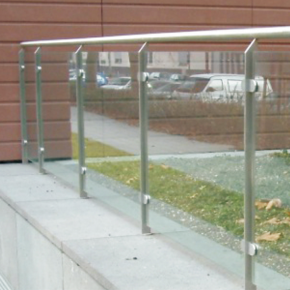 Factory Direct Sale Stand Mounted Glass Balcony Railing
