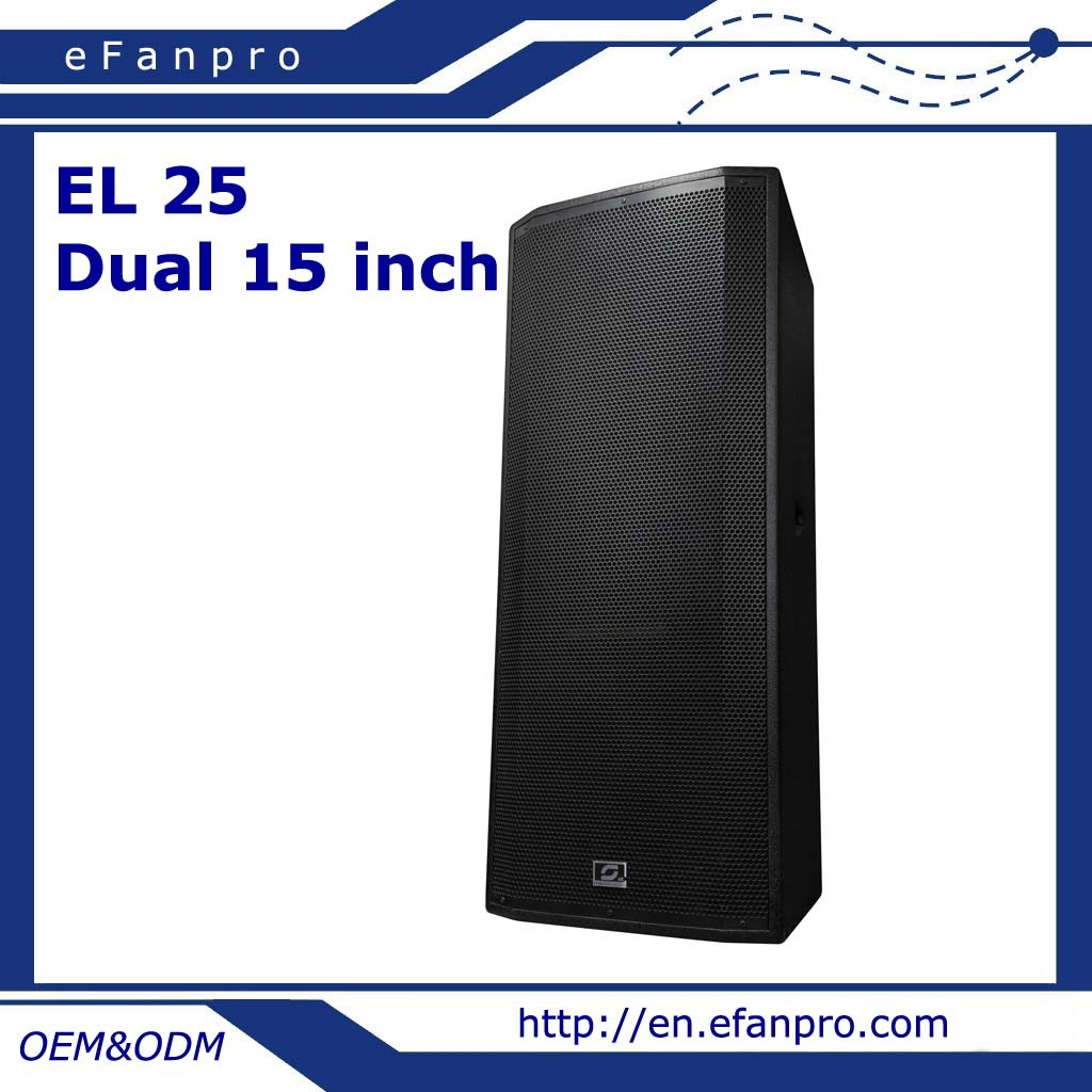 Hot Sale Dual 15 Inch Professional Speaker Box Audio