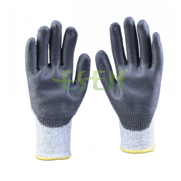2017 Soft Nitrile Coated Cut Protective Safety Work Glove