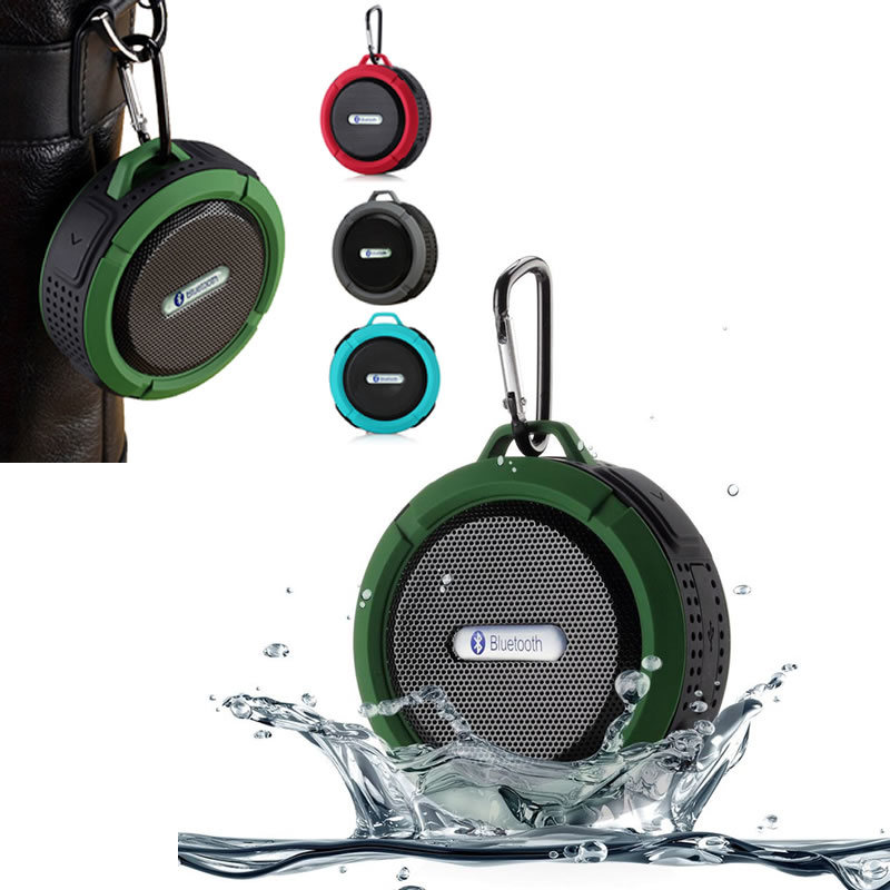 Waterproof Bluetooth Wireless C6 Speaker Outdoor Music Stereo Speaker Mini Speaker Super Bass Loudspeakers