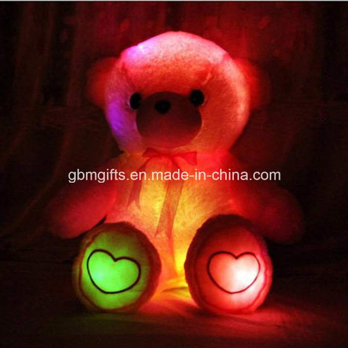 New Design Popular Plush Staffed 30cm LED Light up Claw Star Heart Shape Throe Pillow for Gift