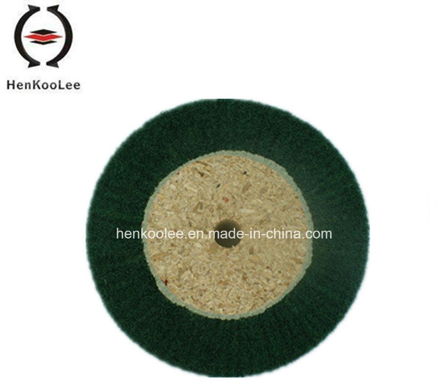 Non Woven Polishing Flap Wheel (Green Colour)