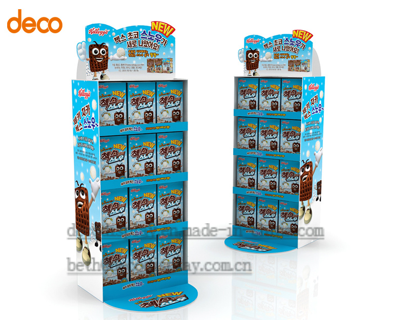 Cardboard Pallet Display Floor Display Stand for Surperket Promotion