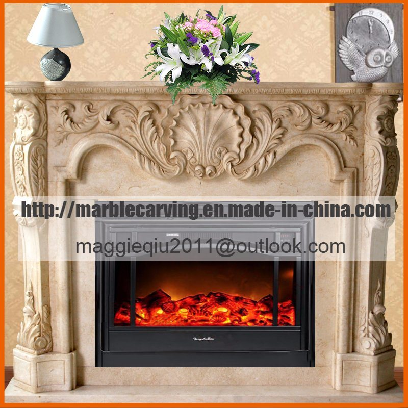 Marble Fireplace Indoor Decor Fireplace Mantel Surround Mf1706