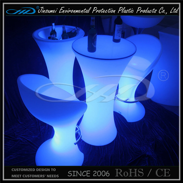 Restaurant LED Furniture Bar Table with BV