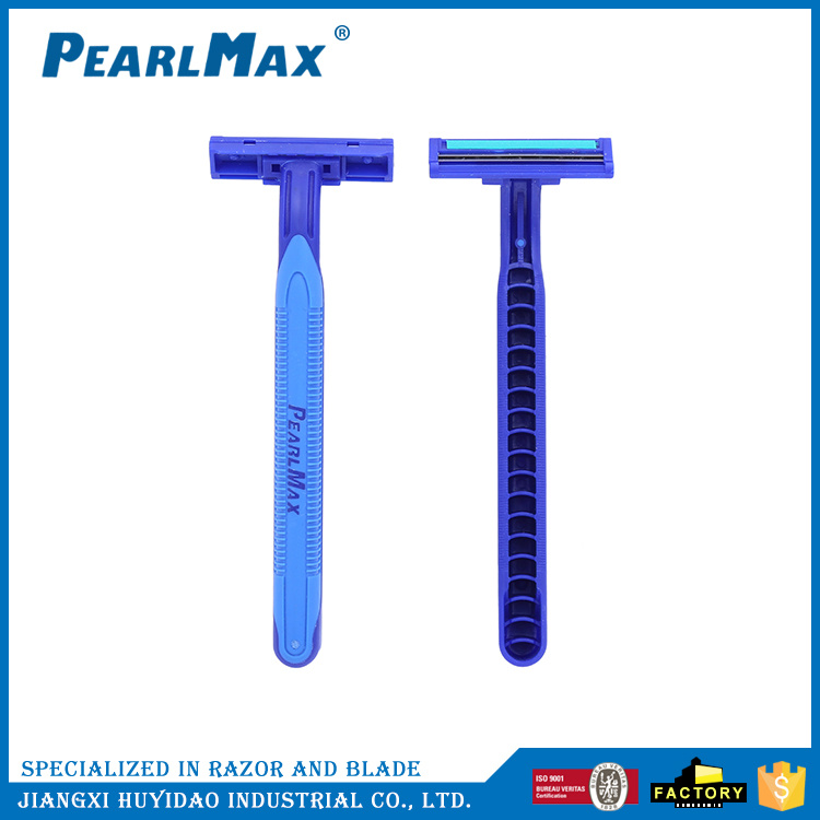 Men 6 Blades Rubber Handle Safety Shaving Razor