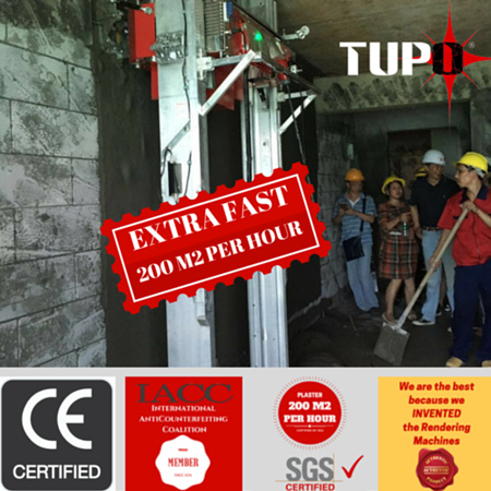 Tupo Cement Wall Plastering Machine/Rendering Machine