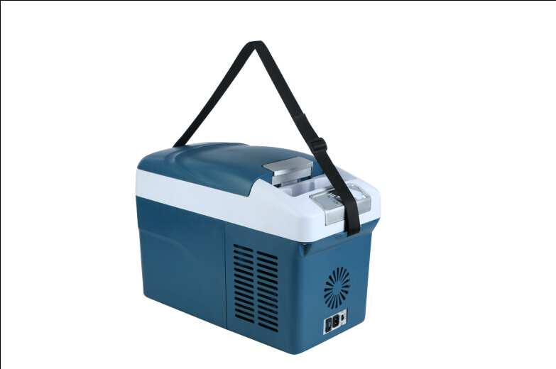 Mini Car Compressor Refrigerator 15liter DC12/24V with AC Adaptor (100-240V)