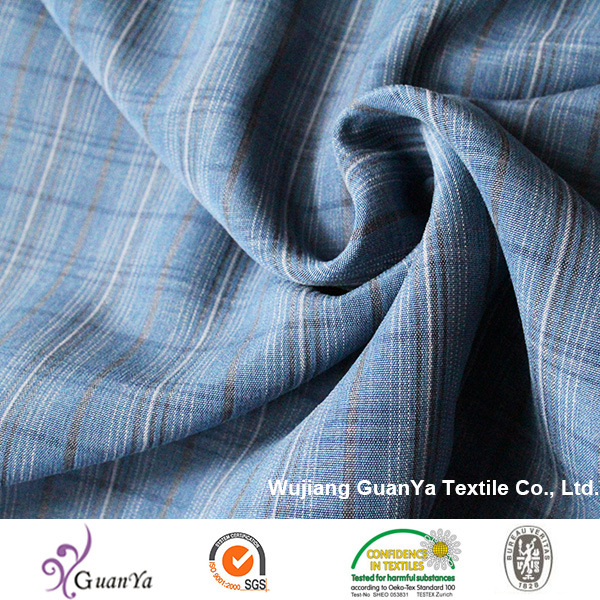 Blue Cationic Yarn Dyed Fabric for Shirt