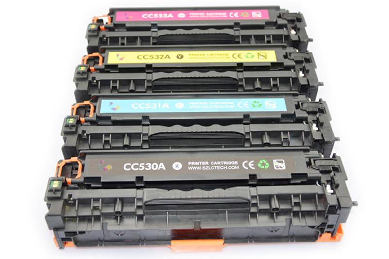 Original Color Toner Cartridges for HP 304A Cc530A Cc531A Cc532A Cc533A