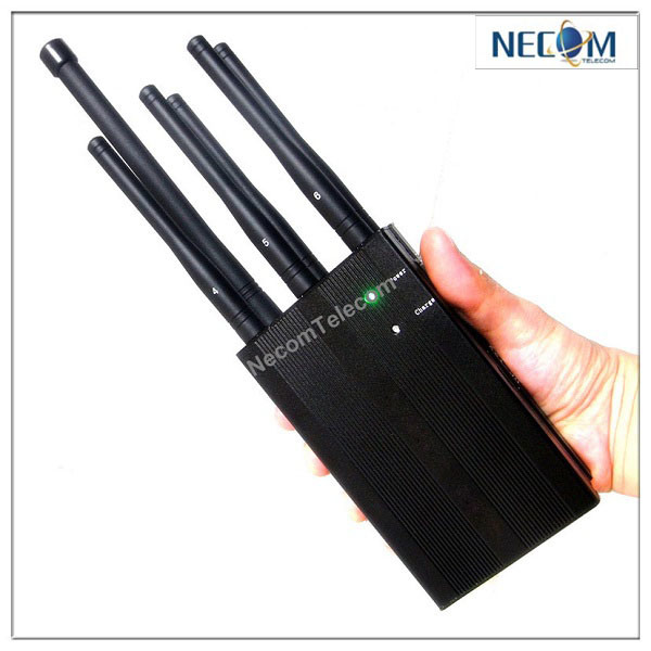 China Black Portable High Power 3G 4G Lte Mobile Phone Jammer 6 Antennas - China Portable Cellphone Jammer, GPS Lojack Cellphone Jammer/Blocker