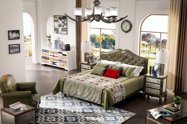 2016 Modern Genuine Leather Bed for Bedroom (Jbl2006)