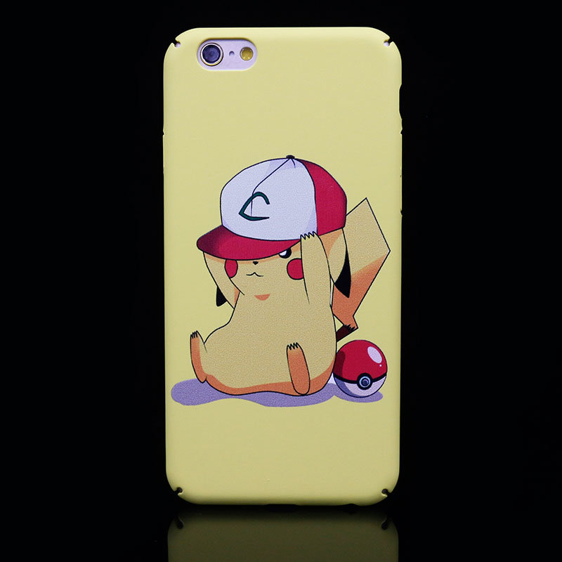 Full Cover PC Pikachu Pokemon Go Mobile Phone Case