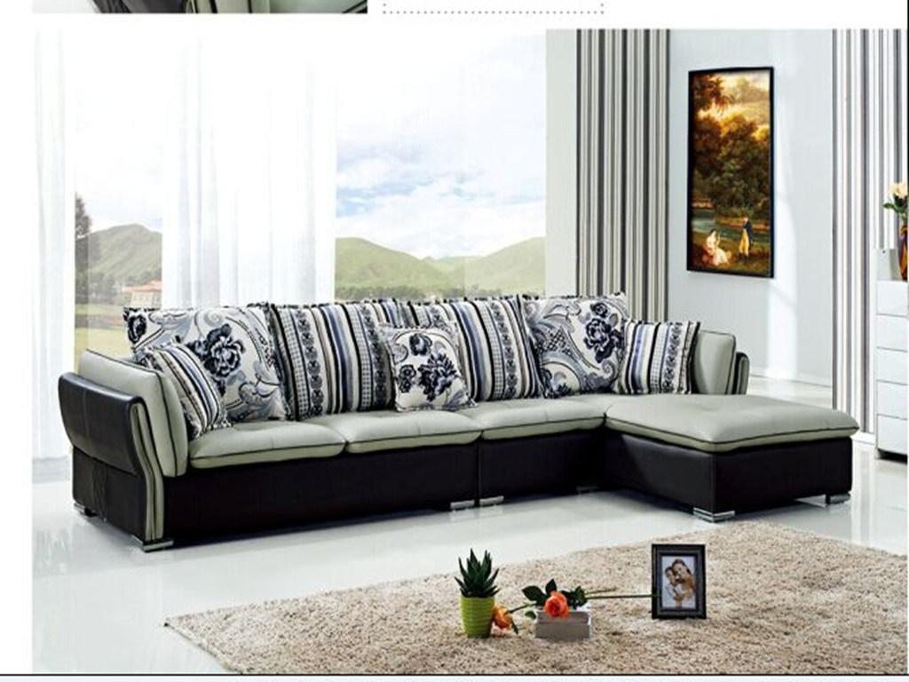 Hot Sale L Shape Sofa Classic Leather Used in Living Room Sofa Furniture