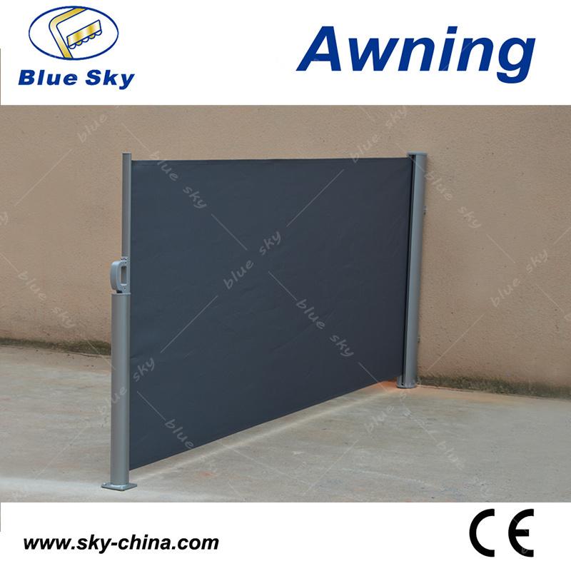 Garden Sunshade Aluminum Retractable Side Screen Awning (B700-1)
