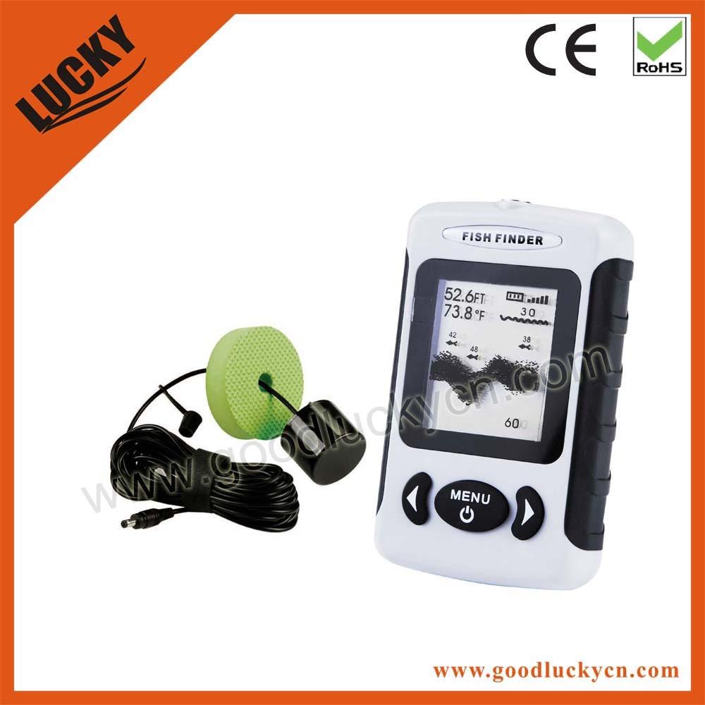 Dot Matrix Portable Sonar Fishfinder, Fishing Tackle (FF718)