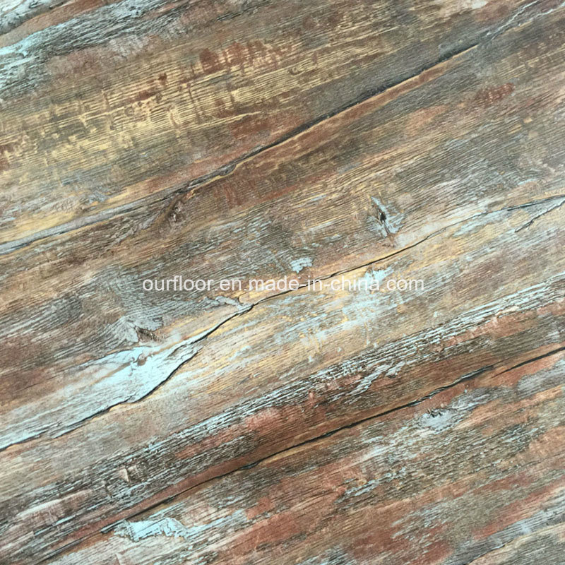 Wood Grain PVC Vinyl Flooring Tiles/ PVC Dy Back/ PVC Glue Down (2mm, 2.5mm, 3mm)