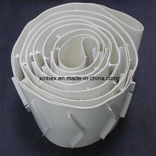 PVC White Food Grade Herringbone Cleats Bar Inclined Conveyor Belt