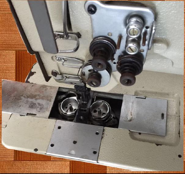 Uesed Mitsubishi Double Needle Compound Feed Sewing Machine (LU2-4420)