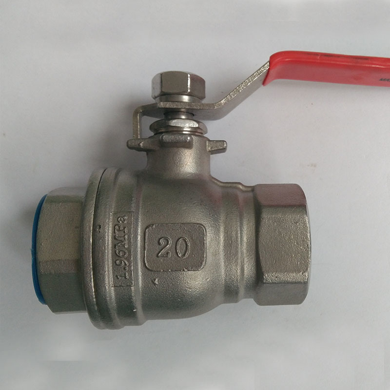 Two Piece Stainless Steel Threaded Korea Type Ball Valve
